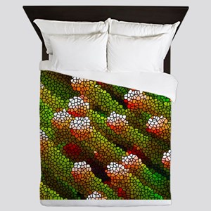 Stained Glass Coral Reef Queen Duvet