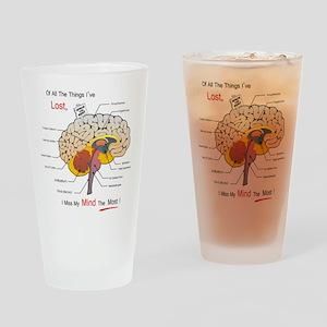 I miss my mind Drinking Glass