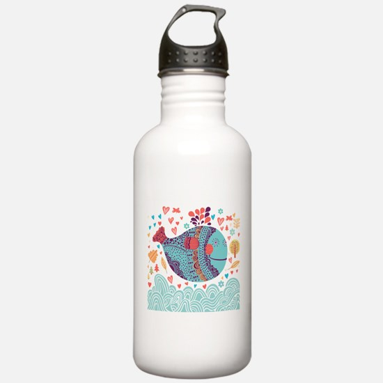 Whimsical Whale Water Bottle