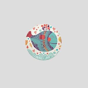 Whimsical Whale Mini Button