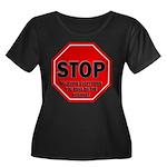 Stop Bel Women's Plus Size Scoop Neck Dark T-Shirt