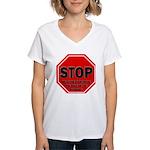Stop Believing the Internet Women's V-Neck T-Shirt