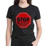 Stop Believing the Internet Women's Dark T-Shirt