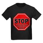 Stop Believing the Internet Kids Dark T-Shirt