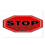 Stop Believing the Intern Postcards (Package of 8)