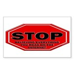 Stop Believing the Inter Sticker (Rectangle 50 pk)