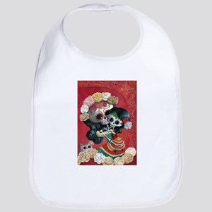Mexican Skeletons - Mother with Daughter Bib