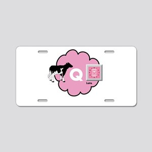 Cow Q Late Aluminum License Plate
