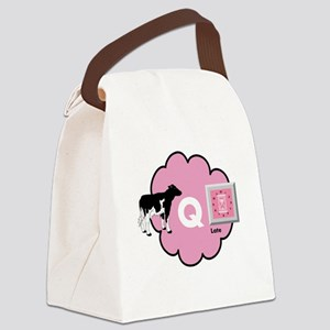 Cow Q Late Canvas Lunch Bag