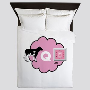 Cow Q Late Queen Duvet