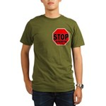 Stop Stupid Organic Men's T-Shirt (dark)