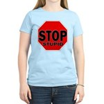 Stop Stupid Women's Light T-Shirt