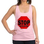 Stop Stupid Racerback Tank Top