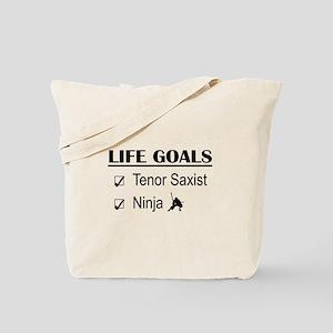 Tenor Saxist Ninja Life Goals Tote Bag