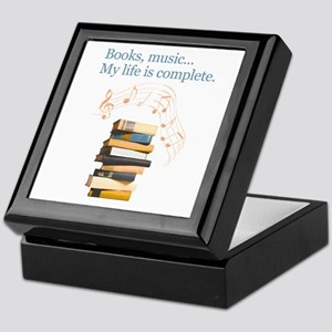 Books and music Keepsake Box