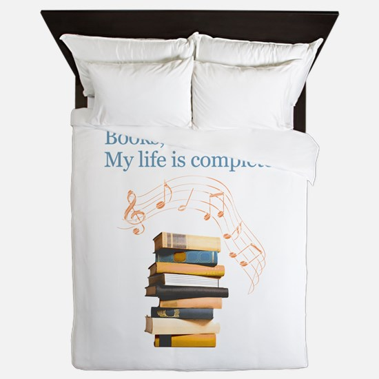 Books and music Queen Duvet