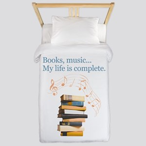 Books and music Twin Duvet