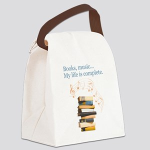 Books and music Canvas Lunch Bag