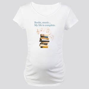 Books and music Maternity T-Shirt
