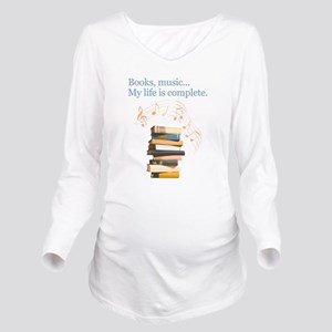 Books and music Long Sleeve Maternity T-Shirt