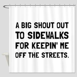 Shout Out Sidewalks Shower Curtain
