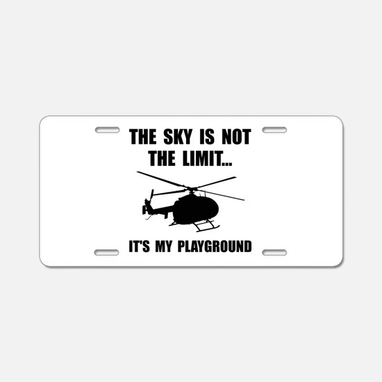 Sky Playground Helicopter Aluminum License Plate