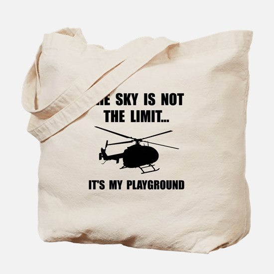 Sky Playground Helicopter Tote Bag