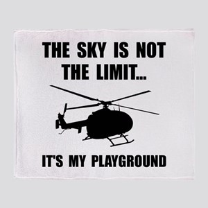Sky Playground Helicopter Throw Blanket