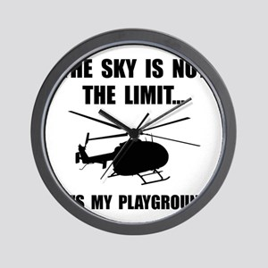 Sky Playground Helicopter Wall Clock