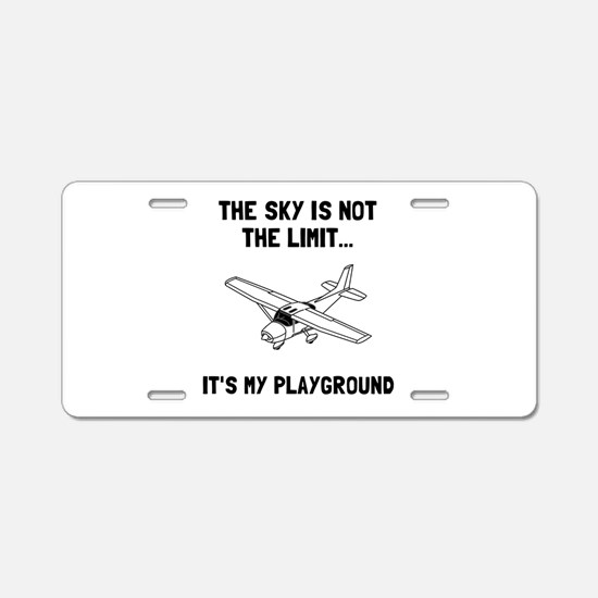Sky Playground Plane Aluminum License Plate