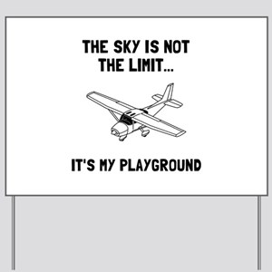 Sky Playground Plane Yard Sign