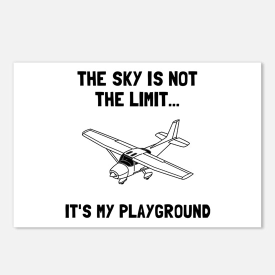 Sky Playground Plane Postcards (Package of 8)