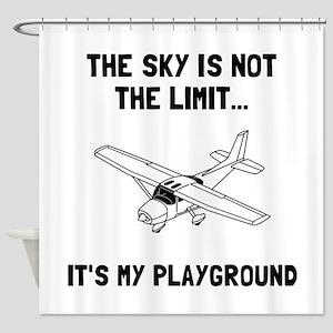 Sky Playground Plane Shower Curtain
