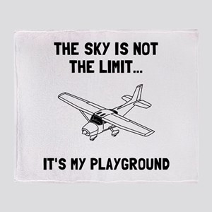 Sky Playground Plane Throw Blanket