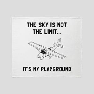 Sky Playground Plane Throw Blanket