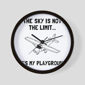 Sky Playground Plane Wall Clock