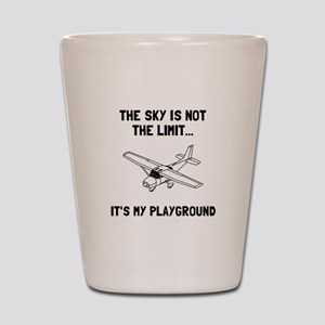 Sky Playground Plane Shot Glass