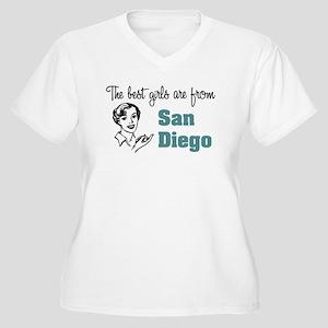 Best Girls San Diego Women's Plus Size V-Neck T-Sh