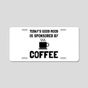 Sponsored By Coffee Aluminum License Plate