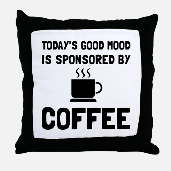 Sponsored By Coffee Throw Pillow