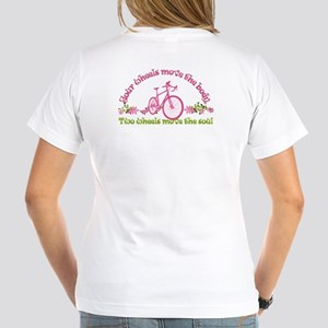 2-Sided Bike Love Women'S V-Neck T-Shirt
