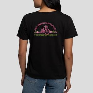 2-Sided Bike Love Women'S Dark T-Shirt