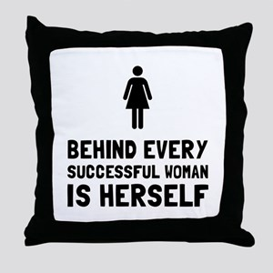 Successful Woman Throw Pillow