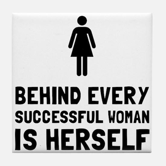 Successful Woman Tile Coaster