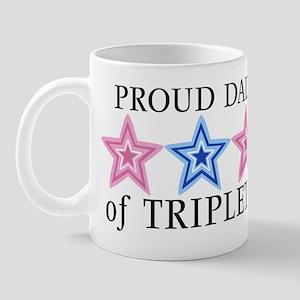 Dad of Triplets (Girls, Boy) Stars Mug