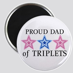 Dad of Triplets (Girls, Boy) Stars Magnet