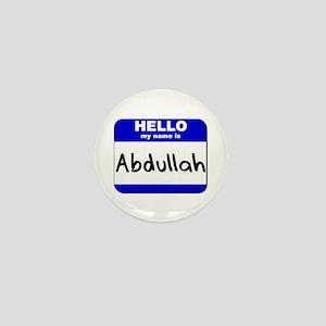 hello my name is abdullah Mini Button