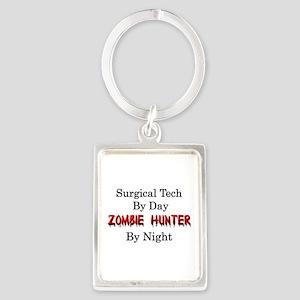 Surgical Tech/Zombie Hunter Portrait Keychain