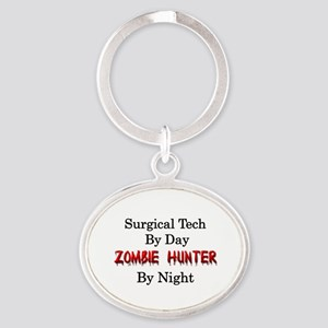 Surgical Tech/Zombie Hunter Oval Keychain