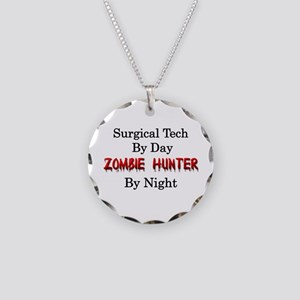 Surgical Tech/Zombie Hunter Necklace Circle Charm